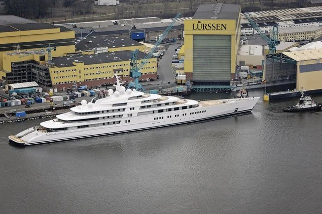 Azzam The Worlds Largest Yacht Is Launched In Germany