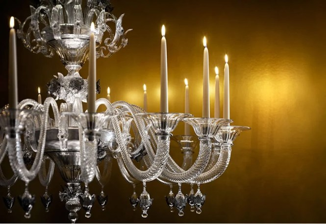 A Murano Glass Chandelier That Has The Best Of Both Worlds Real Wax Candles And Led Lights