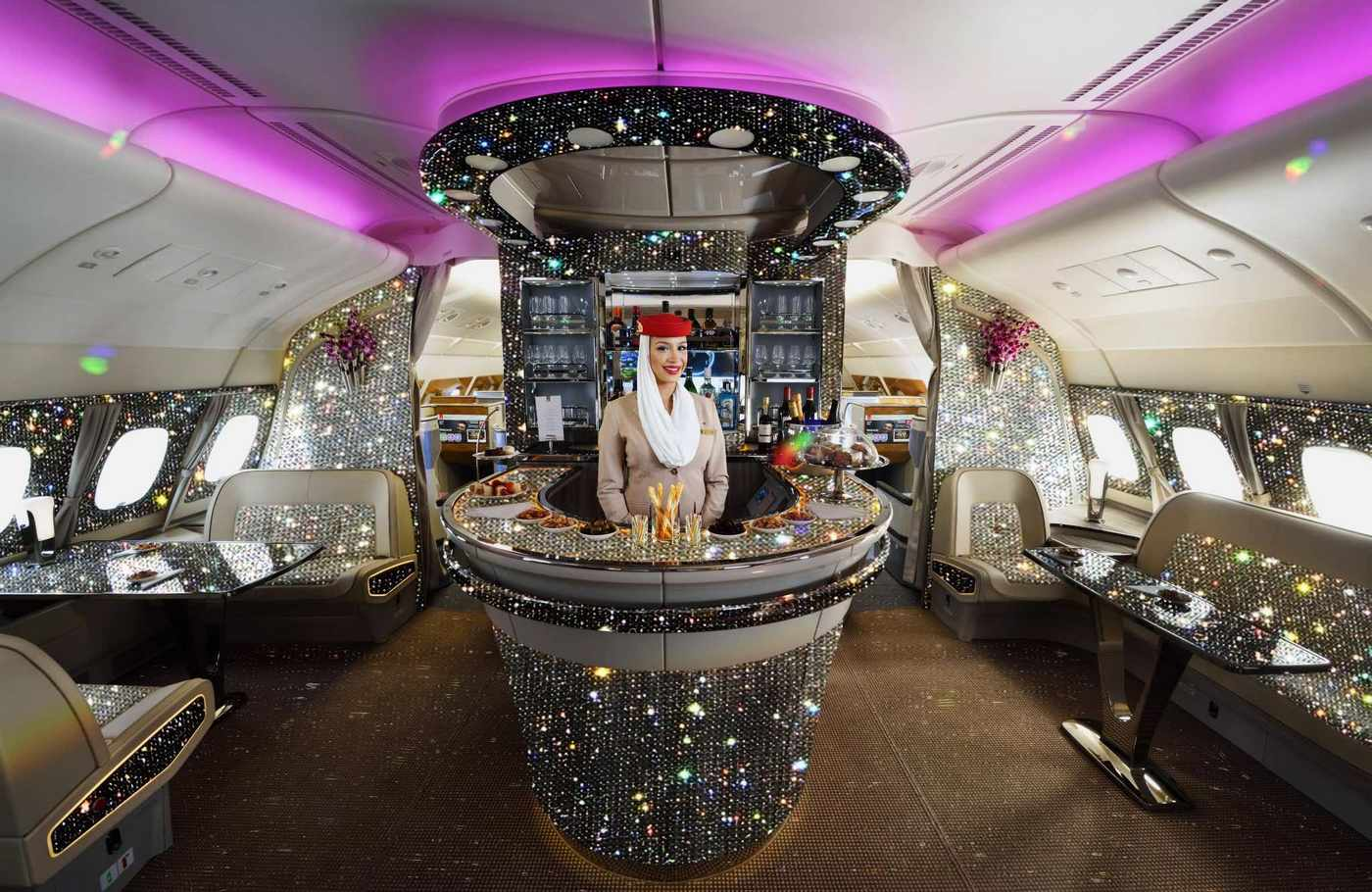Take A Look At The Diamond Encrusted Onboard Lounge Of The