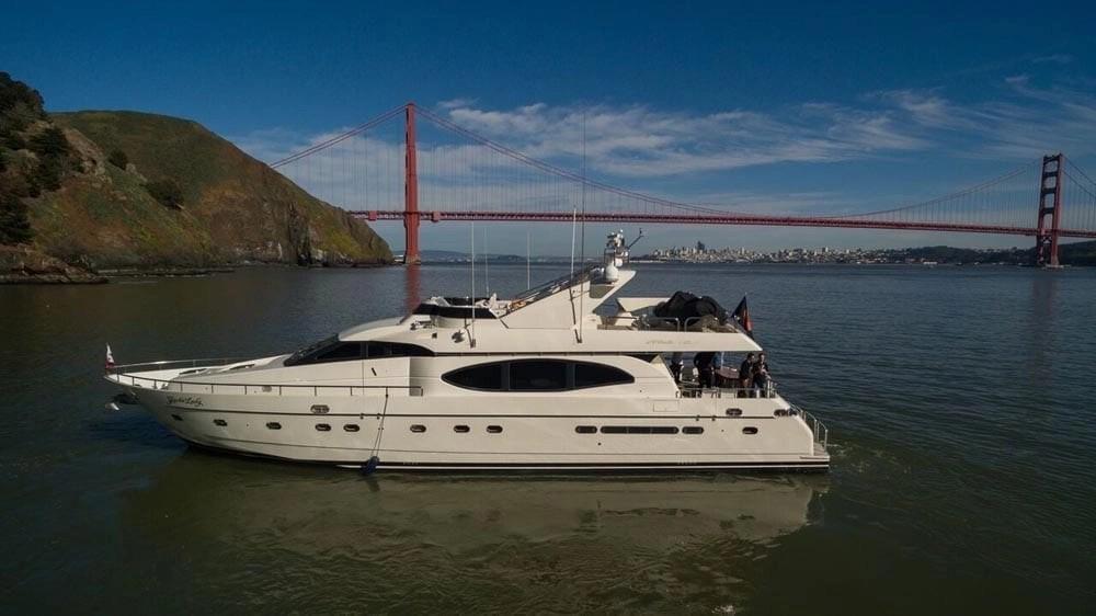 San Francisco Luxury Yacht Charter 80 Monte Fino