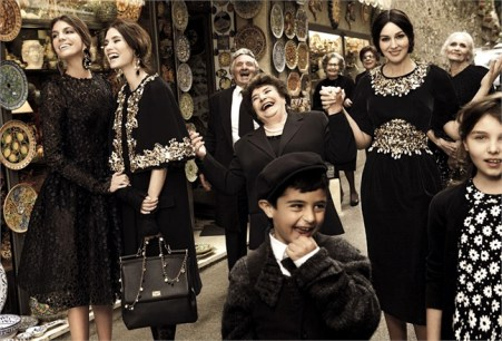 Dolce & Gabbana, advertisement for F/W 2012/2013 collection
