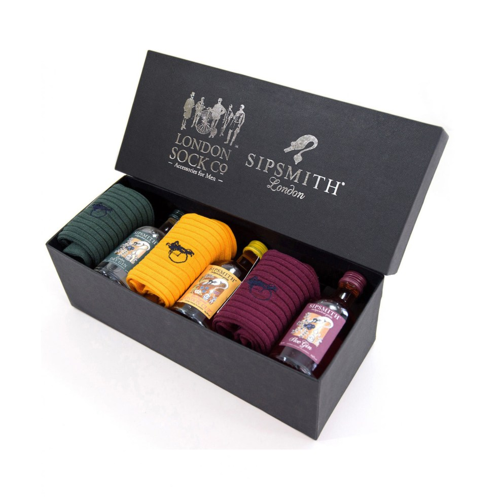 Sip in Style London Sock Co. Gift Set, £65