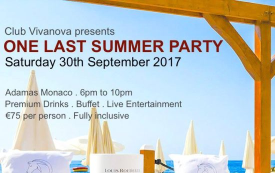 Club Vivanova Presents ONE LAST SUMMER PARTY – Adamas Monaco