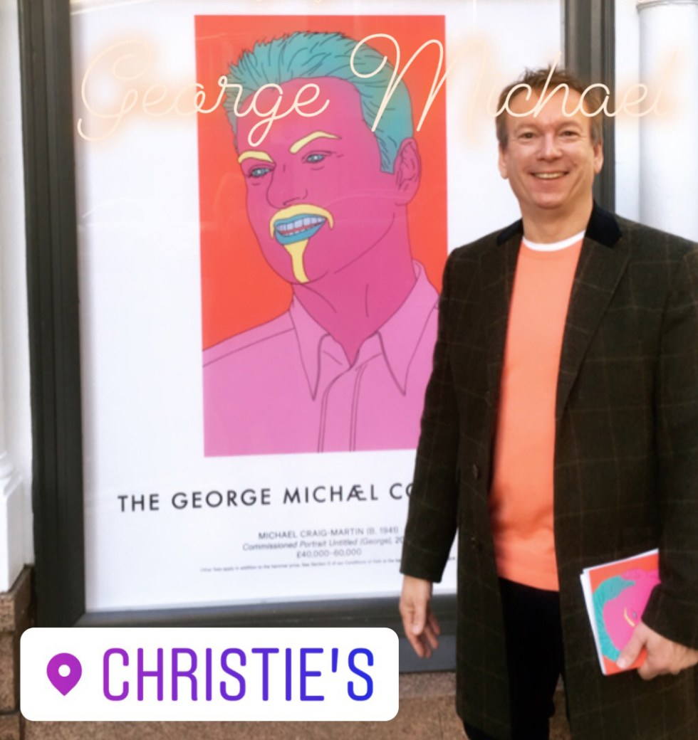Simon Bacon Visits The George Michael Auction At Christie's