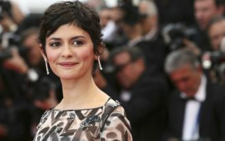 "Cannes 2014 - La montée des marches de ""Grace de Monaco"" Audrey Tautou. Photo : AFP"