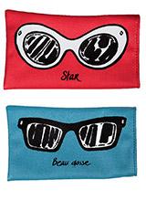 Vedette attitude pour elle, allure de playboy pour lui, ces étuis à lunettes s'accordent avec humour à l'humeur de celui ou celle qui les porte !