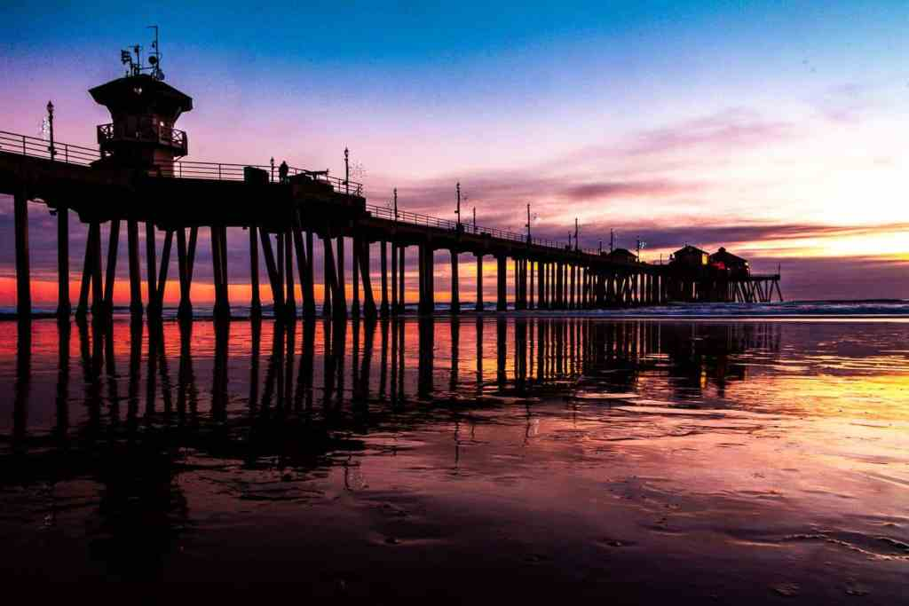 A beautiful sunset at Huntington Beach. An Airbnb Huntington Beach would be perfect to see this.