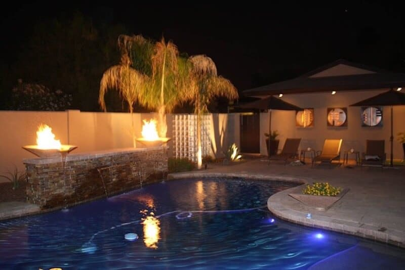 Airbnb AZ - Pool at night time - Luxury Travel Hacks