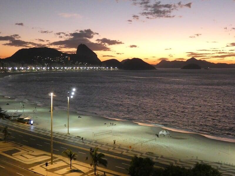 Copacabana Beach at Night - Airbnb Rio - Luxury Travel Hacks