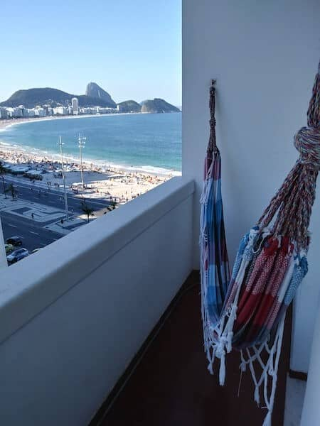 Hammock with View of Copacabana Beach - Airbnb Rio de Janeiro - Luxury Travel Hacks