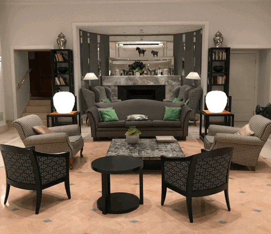 Lobby of Rome Marriott Grand Hotel Flora - A Beginner's Guide to Travel Hacking - Luxury Travel Hacks