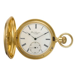 Borel & Courvoiser hunter case pocket watch 18k Y/g  51mm Manual watch