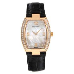 Concord La Scala 54 G3 1480.0 18k rose gold MOP diamond dial & bezel 33mm Quartz