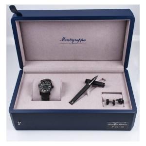 Montegrappa Skeleton Date matte black pvd 42mm auto watch