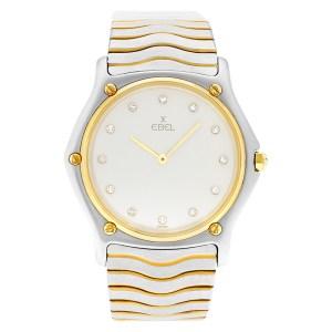 Ebel Sportwave 18k & St/s 181903 Diamond White dial 34mm Quartz watch