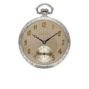 Hamilton pocket watch 0104264 14k Gold dial 45mm Manual watch