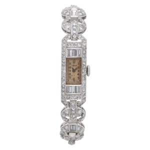 Longines LDS platinum 10.7mm Manual watch