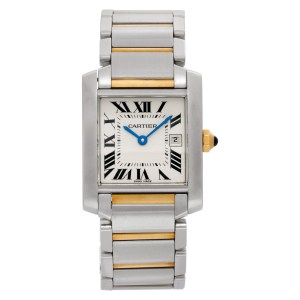 Cartier Tank Francaise 2465 Stainless Steel White dial mm Quartz watch