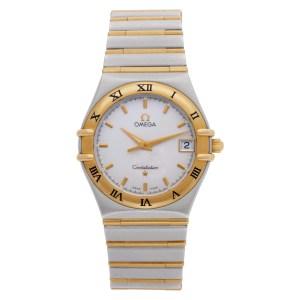 Omega Constellation 3961201 18k Yellow Gold White dial 33mm Quartz watch