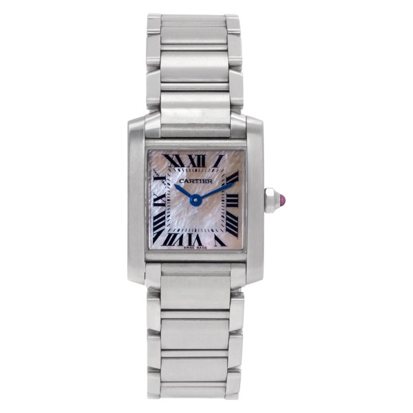 Cartier Tank Francaise W51028Q3 Stainless Steel Mother of Pearl dial 20mm Quartz
