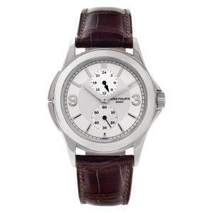 Patek Philippe Travel Time 5134 18k White Gold Silver dial 37mm Manual watch