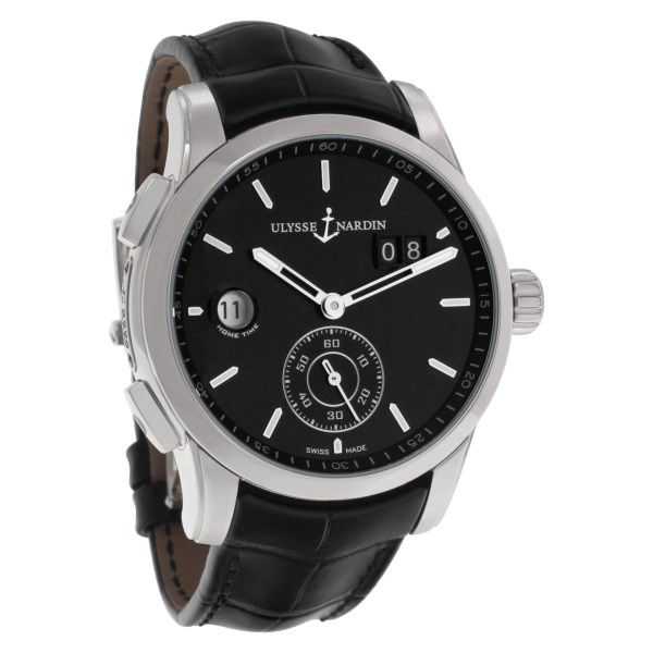 Ulysse Nardin Dual Time 3343126 Stainless Steel Black dial 42mm Automatic watch