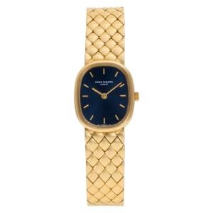 Patek Philippe Ellipse 4764/011 18k Blue dial 19.5mm Quartz watch