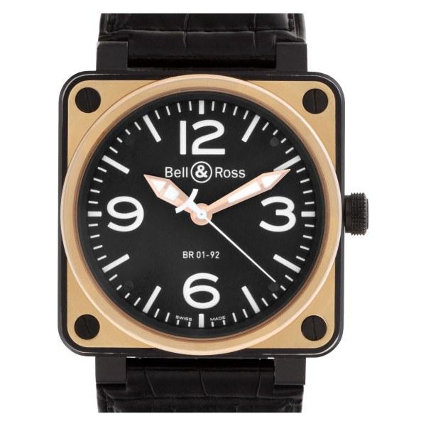 Bell & Ross Military Spec. BR01-92-S 18k & steel 46mm auto watch