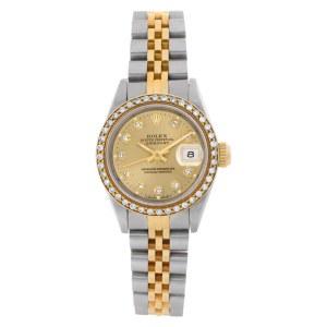 Rolex Datejust 69173 18k & steel 26mm auto watch