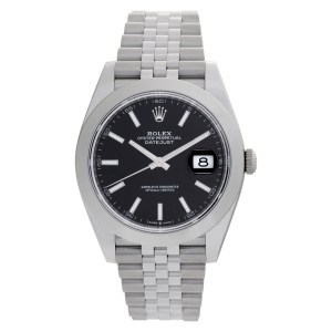 Rolex Datejust 41 126300 Stainless Steel Black dial 41mm Automatic watch