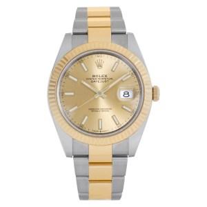 Rolex Datejust 126333 18k & steel 40mm auto watch