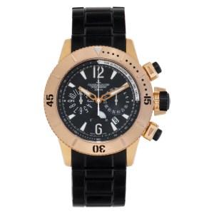 Jaeger LeCoultre Diving Chronograph Q1862740 18k rose gold Black dial 44mm Autom