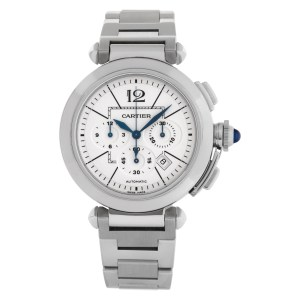 Cartier Pasha 42mm w31085m7 Stainless Steel White dial 42mm Automatic watch