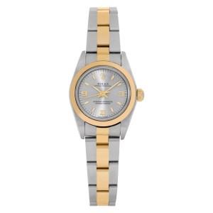 Rolex Oyster Perpetual 76183 18k & steel 25mm auto watch