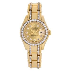 Rolex Pearlmaster 69298 18k 29mm auto watch