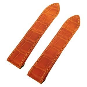 Cartier For Santos 100 Orange Alligator Strap (20x18)