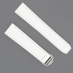 Baume & Marcier white ladies alligator strap with deployant buckle (21mm x 18mm)