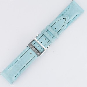 Jacob & Co. Polyurethane Water Resistant Light Blue Strap 18mm x 16mm with Deployant Buckle.