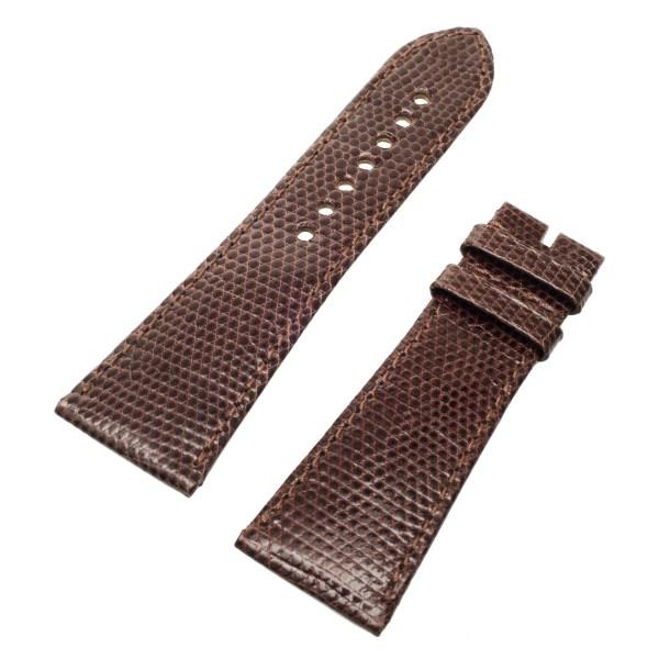 Cartier Dark brown lizard skin (24 x 18.5)