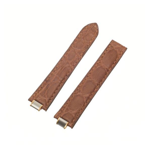Cartier must 21 original strap semi-mat brown crocodile skin (16x14)