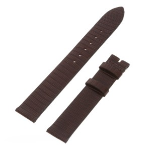 Corum glossy brown lizard strap for tang buckle (15mm x 14mm)