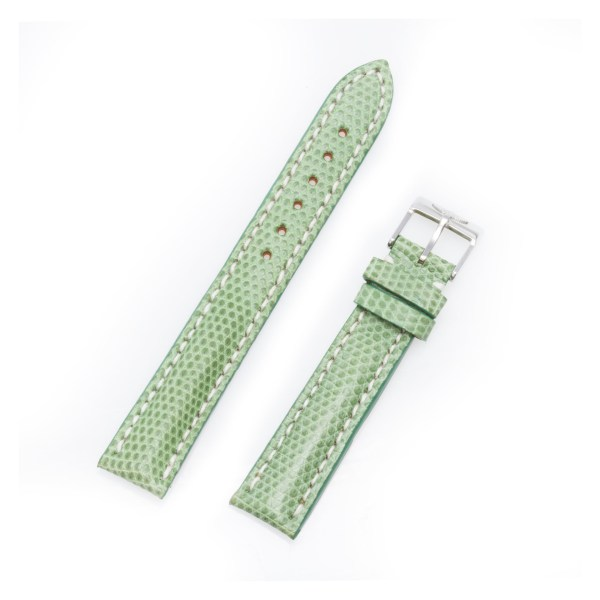 Breitling green lizard strap with tang buckle  16mm x 14mm