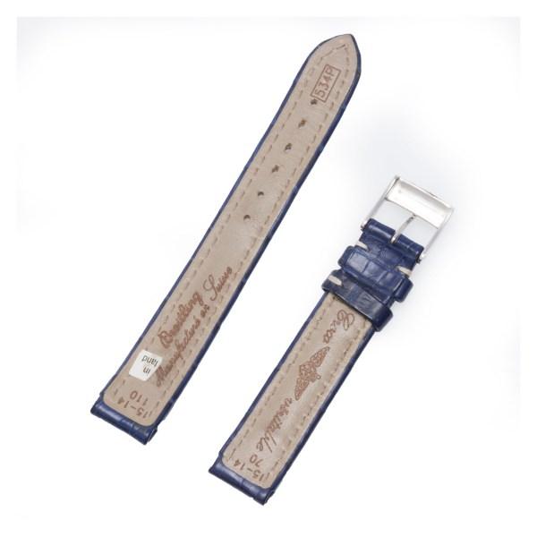 Breitling Navy Blue crocodille strap 15x14
