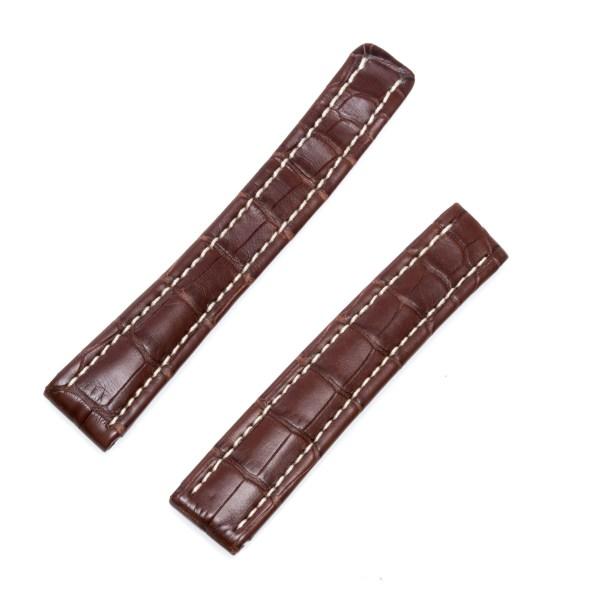 Breitling brown crocodile strap 16x14