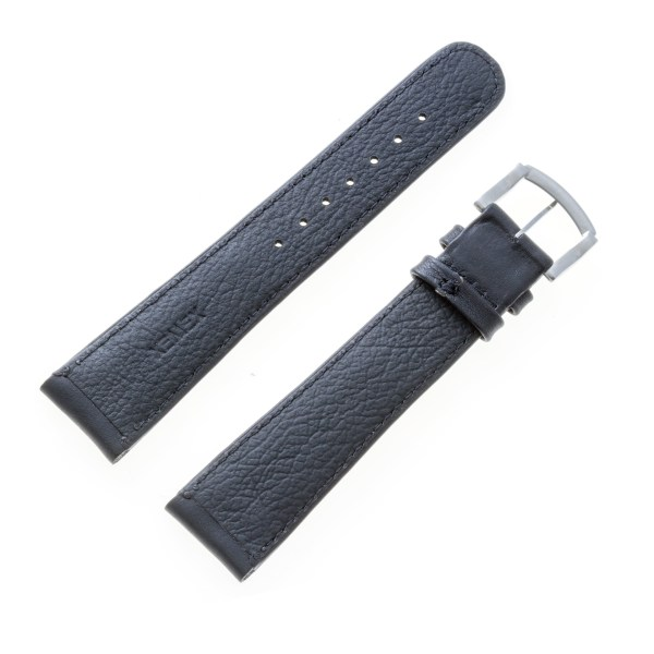 Xemex black calfskin strap with black stitching (22x18)