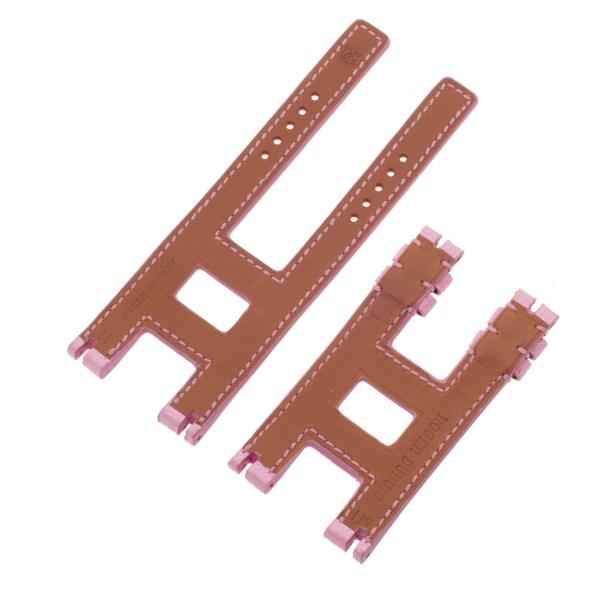 Roger Dubuis Follow Me F18 regular pink calfskin strap 11x11