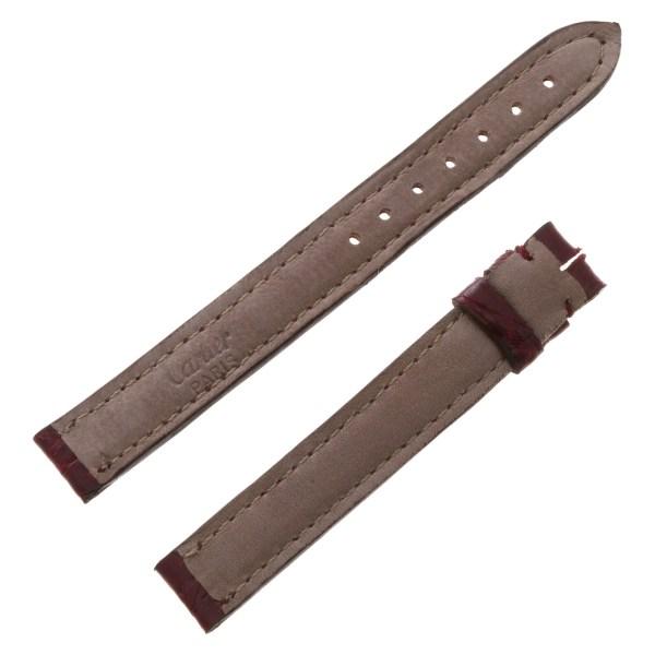 Cartier burgundy crocodile strap (12mmx12mm)