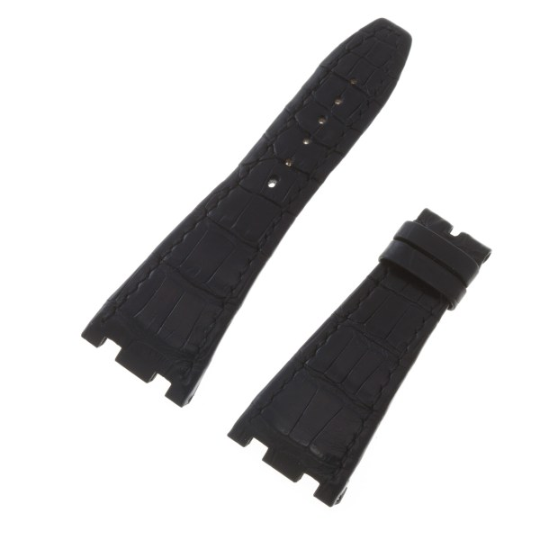 Pre- owned Audemars Piguet black alligator strap in good condition 28mm x 18mm
