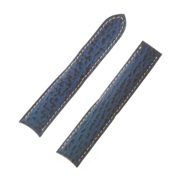 Cartier Blue Shark Skin Strap (17x16)