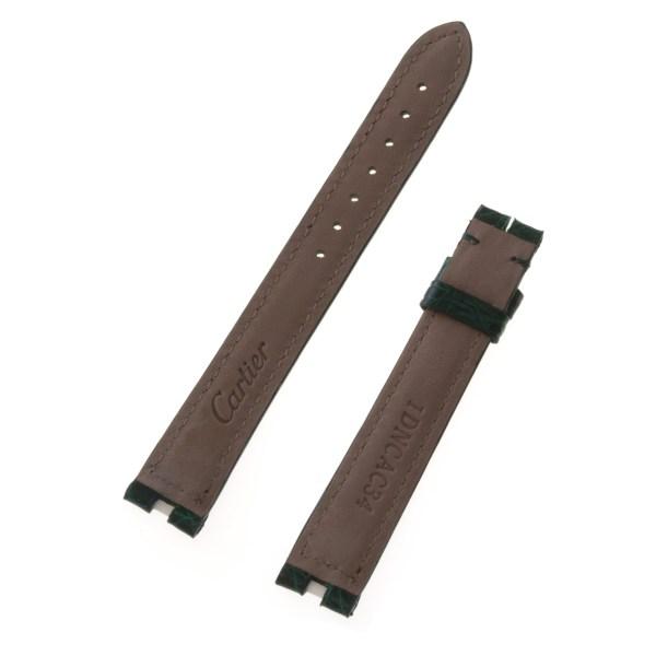 Cartier green crocodile strap (15x14)